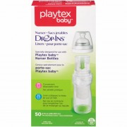 اكياس الرضاعات الشفافة 300مل بلايتكس 50 حبة Playtex Baby Drop-Ins Liners For Playtex Baby Nurser Bottles 8oz 50 Count